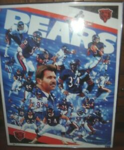 walter payton chicago bears nfl posters