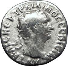 TRAJAN  98AD Caesarea Authentic Ancient Silver Roman Coin Clasped hands i70277