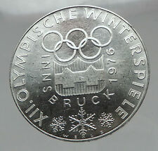 1976 AUSTRIA Innsbruck Winter OLYMPIC Games 100 Schilling Silver Coin i63015