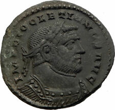 DIOCLETIAN Authentic Ancient 300AD LONDON Londinium Roman Coin GENIUS i75574