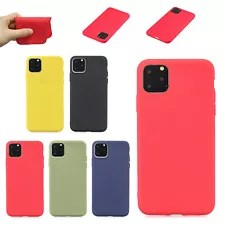 Slim Soft Rubber Silicone Gel Protective Case Cover For iPhone 11 Pro Max/11 Pro