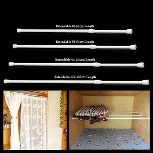plastic curtain tension curtain rods