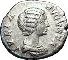 JULIA DOMNA 199AD Rome Authentic Silver Ancient Roman Coin Pietas i73584