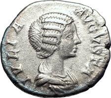 JULIA DOMNA 199AD Rome Authentic Silver Ancient Roman Coin Pietas i73584