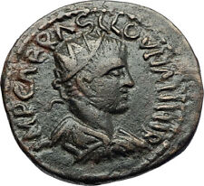 VALERIAN I Authentic Ancient 253AD Antioch Pisidia Roman Coin w STANDARDS i70792