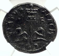 LICINIUS II Jr Authentic Ancient 320AD Genuine Roman Coin w CAPTIVES NGC i76307