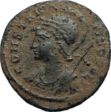 CONSTANTINE I the GREAT Founds Constantinople Original Ancient Roman Coin i67672