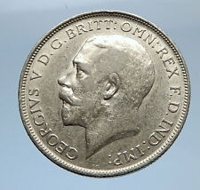 1917 United Kingdom Great Britain GEORGE V Silver Florin 2 Shillings Coin i69412