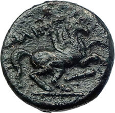 Philip II Alexander the Great Dad OLYMPIC GAMES Ancient Greek Coin Horse i73640