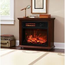 Space Heaters for sale   eBay Large Room Electric Quartz Infrared Fireplace Heater Deluxe Mantel Oak    Walnut