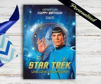 Star Trek Geburtstagskarte Mr Spock 5x7 Cm Personalisiert Plus Umschlag Ebay