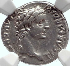 TIBERIUS 15AD Silver BIBLICAL Roman Coin Jesus Christ RENDER CAESAR NGC i69811