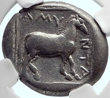 AMYNTAS Macedonia Kingdom Ancient Silver Greek Stater Coin NGC Certified i72380