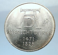 1971 D GERMANY Vintage Authentic Silver ALBRECHT DURER Artist German Coin i71935