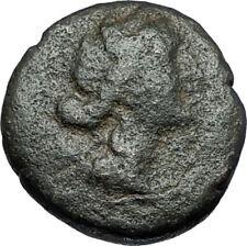 AMPHIPOLIS in MACEDONIA 1stCenBC RARE R1 Ancient Greek Coin ARTEMIS BULL i68807