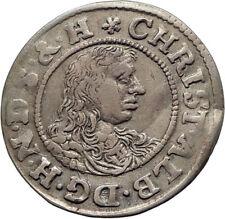 1671 DENMARK German State Holstein Gottorp CHRISTIAN ALBERT  Silver Coin i74520