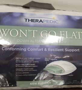 therapedic won t go flat king 19x35in