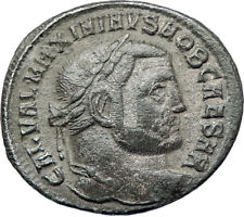 MAXIMINUS II Daia 312AD Big Silvered Ancient Roman Coin GENIUS  i73368