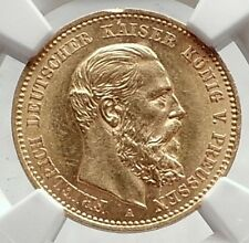 1888 PRUSSIA KINGDOM Germany FRIEDRICH III Gold 10 Mark German Coin NGC i72722