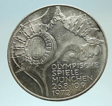 1972 Germany Munich Summer Olympics Stadium 10 Mark Proof Silver Coin i76808
