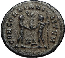 MAXIMIAN Authentic Ancient 295AD Roman Cyzicus Coin w JUPITER & VICTORY i67434