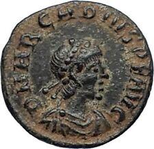 ARCADIUS 388AD Authentic Ancient Genuine Roman Coin VICTORY Angel Captive i67193