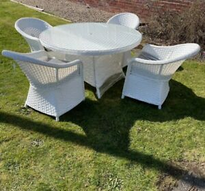 rattan white patio garden furniture