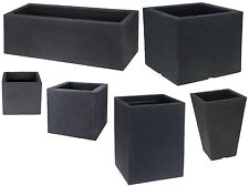Buy Large Indoor Plant Pots   eBay Cube Rectangle Sturdy Large Square Planters Plant Pot Troughs indoor Outdoor
