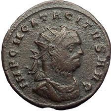 TACITUS Authentic Ancient Genuine Original 275AD Roman Coin MARS JUPITER i70727
