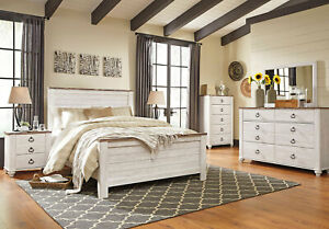 white rustic bedroom furniture sets for