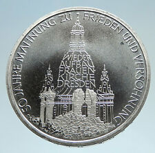 1995 GERMANY Frauenkirche Church Dresden Proof Silver German 10 Mark Coin i75142