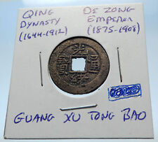 1875AD CHINESE Qing Dynasty Genuine Antique DE ZONG Cash Coin of CHINA i72214