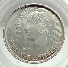 1938 ARKANSAS 100th Commemorative Silver Half Dollar US Coin PCGS MS 65 i76423