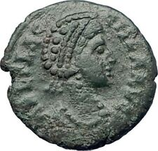 AELIA FLACILLA 383AD Ancient  Roman Coin VICTORY CHI-RHO Christ monogram  i73465