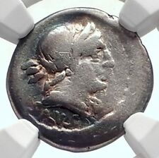 Roman Republic 91BC Rome SALUS Victory Chariot Ancient Silver Coin NGC i72093