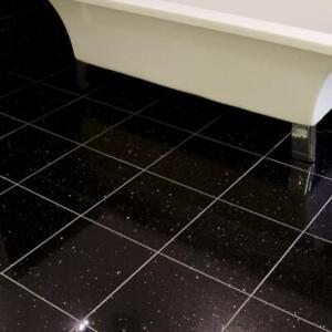 black galaxy granite in floor wall