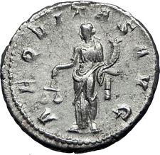 GORDIAN III 239AD Ancient Authentic Genuine Silver Roman Coin Aequitas   i70060