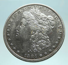 1889 UNITED STATES of America SILVER Morgan Antique US Dollar Coin EAGLE i76149