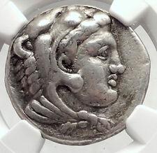ALEXANDER III the GREAT Lifetime TETRADRACHM 333BC Silver Greek Coin NGC i73070