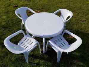 white plastic table chair sets garden