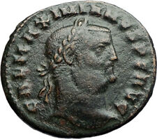 GALERIUS Authentic Ancient 308AD Cyzicus Genuine Follis Roman Coin GENIUS i71175