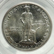 LEXINGTON CONCORD BATTLE Commemorative Silver Half Dollar US Coin PCGS i76420