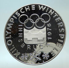 1976 AUSTRIA Innsbruck Winter OLYMPIC Games 100 Schilling Silver Coin i76628