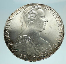 1780-1960 Maria Theresa Austria Germany Queen Silver Thaler Large Coin i76640