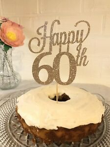 60th Birthday In Party Supply Cake Toppers For Sale Ebay