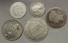 GROUP LOT of 5 Old SILVER Europe or Other WORLD Coins for your COLLECTION i53822