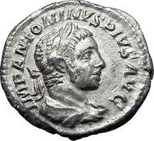 ELAGABALUS 220AD Rome Authentic Genuine Ancient Silver Roman Coin VICTORY i70302