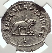 PHILIP I the ARAB 1000 Years of Rome Colosseum LION Silver Roman Coin NGC i69320