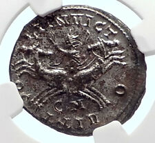AURELIAN Authentic Ancient 280AD Roman Coin SOL CHARIOT HORSE CHARIOT NGC i72088