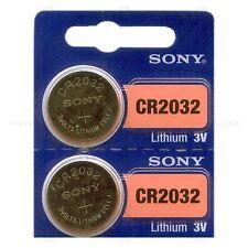 2 NEW SONY CR2032 3V Lithium Coin Battery Expire 2029 FRESHLY NEW - USA Seller